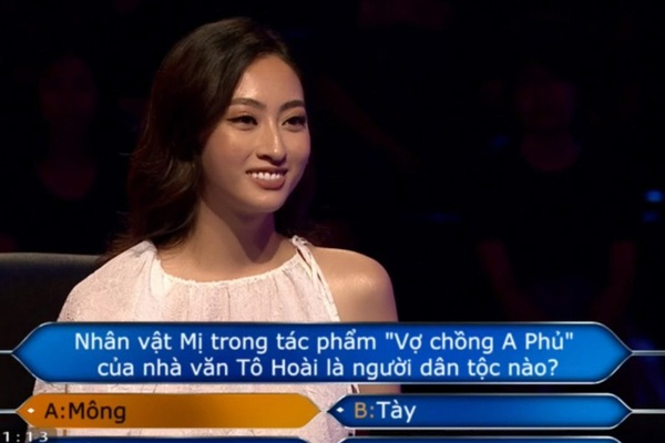 """Clip mỹ nhân Cao Bằng chân dài 1m22 trả lời đúng 7 câu hỏi liên tiếp """"Ai là triệu phú"""", fan trầm trồ"""