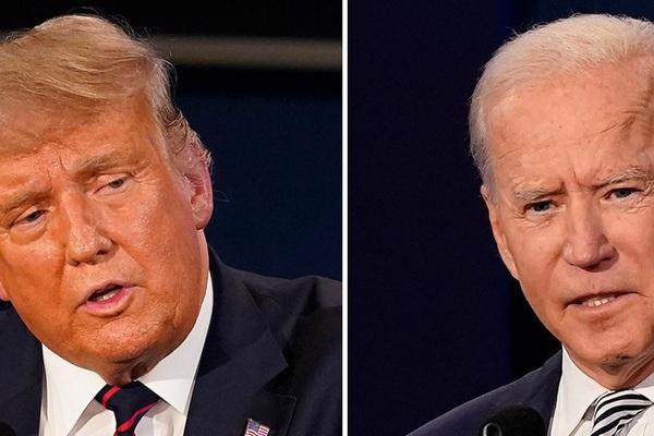 Bầu cử Mỹ: Trump-Biden đang tranh luận trực tiếp đầy gay cấn