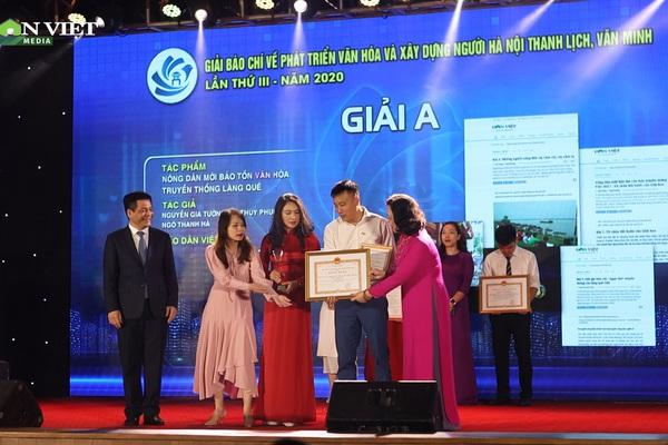 """Báo NTNN/điện tử Dân Việt """"thu hoạch"""" nhiều giải thưởng báo chí lớn"""