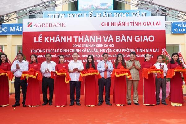 Agribank xây tặng trường học 9,6 tỷ đồng cho huyện vùng biên Gia Lai