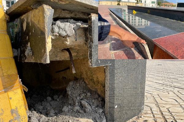Quảng Ngãi: Huyện chỉ đạo nóng vụ Quảng trường 25 tỷ mới bàn giao 7 tháng đã hư hỏng