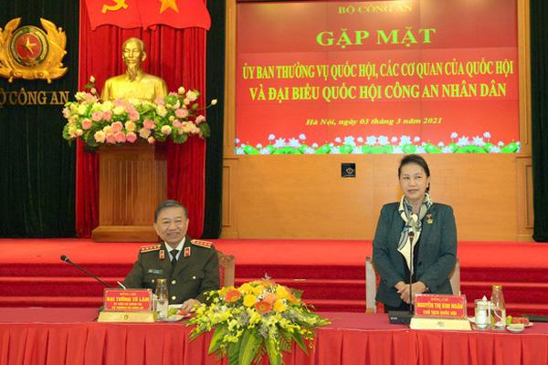 Chủ tịch Quốc hội Nguyễn Thị Kim Ngân: Lực lượng công an là thành tố quan trọng trong phát triển đất nước