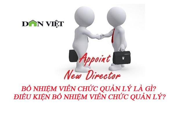 Bổ nhiệm viên chức quản lý là gì? Điều kiện bổ nhiệm viên chức quản lý?