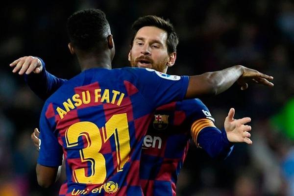 """Choáng: Mức lương của """"thần đồng"""" Ansu Fati chỉ bằng 1/13 Messi"""