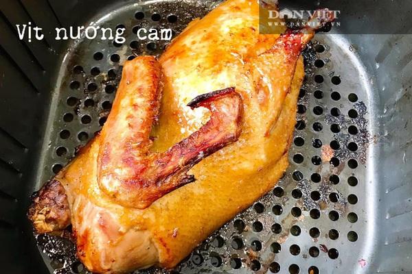 Làm món vịt nướng cam bằng nồi chiên không dầu da giòn, ngọt thịt
