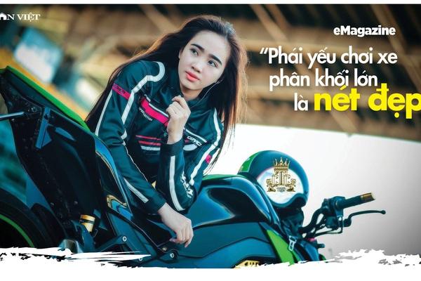 """Hotgirl Cần Thơ Kim Nguyên: """"Chơi xe phân khối lớn là nét đẹp"""""""