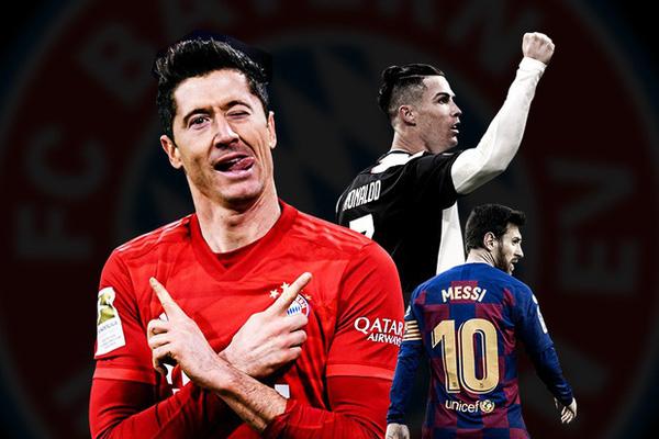 """Cuộc đua Chiếc giày vàng châu Âu 2020/21: Ronaldo, Messi """"hít khói"""" Lewy"""