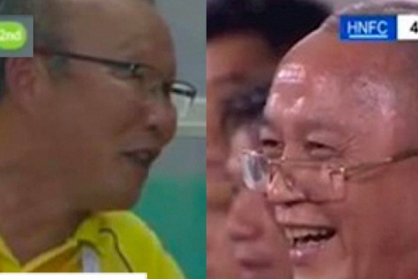Cười tươi khi đội nhà thua trận, HLV Park có giống chủ tịch CLB Quảng Ninh?