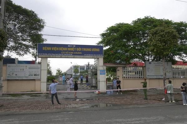 Hà Nội: Khẩn trương phong toả Bệnh viện Bệnh Nhiệt đới Trung ương cơ sở 2
