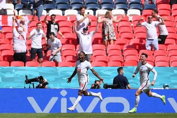 """Sterling """"xé lưới"""" Croatia, ĐT Anh xóa dớp đen đủi tại EURO"""
