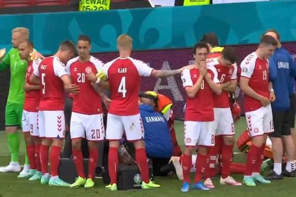 Tiền vệ Eriksen đột quỵ ở trận Đan Mạch vs Phần Lan, nhiều ngôi sao cùng cầu nguyện