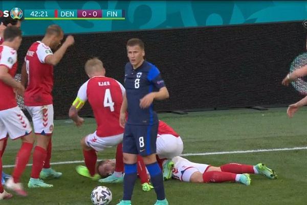 Video: Xem lại tình huống khiến Eriksen bất ngờ đổ gục trên sân, nghi đột quỵ