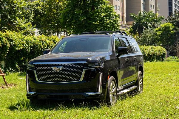 Cận cảnh siêu SUV Mỹ Cadillac Escalade ESV Premium Luxury 2021 đầu tiên tại Việt Nam