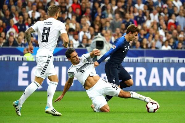 Xem trực tiếp Pháp vs Đức trên VTV3