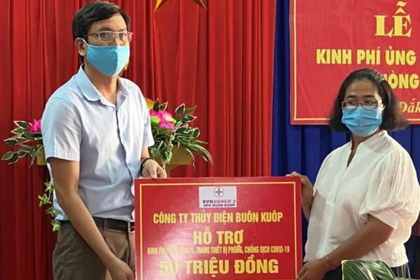 Công ty Thuỷ điện Buôn Kuốp chung tay phòng chống dịch Covid-19