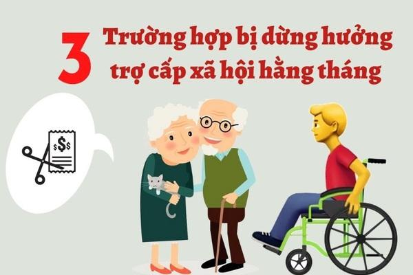3 trường hợp dừng hưởng trợ cấp xã hội hằng tháng theo quy định mới nhất