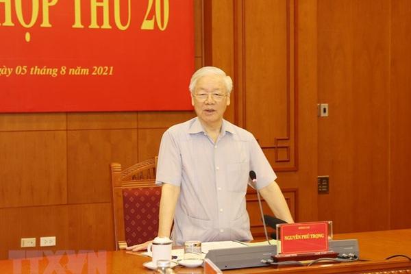 Ảnh: Tổng Bí thư Nguyễn Phú Trọng chủ trì phiên họp  của Ban Chỉ đạo chống tham nhũng
