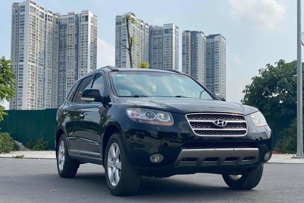 Hyundai Santa Fe đời cực sâu, màu đen, rao bán giá giật mình