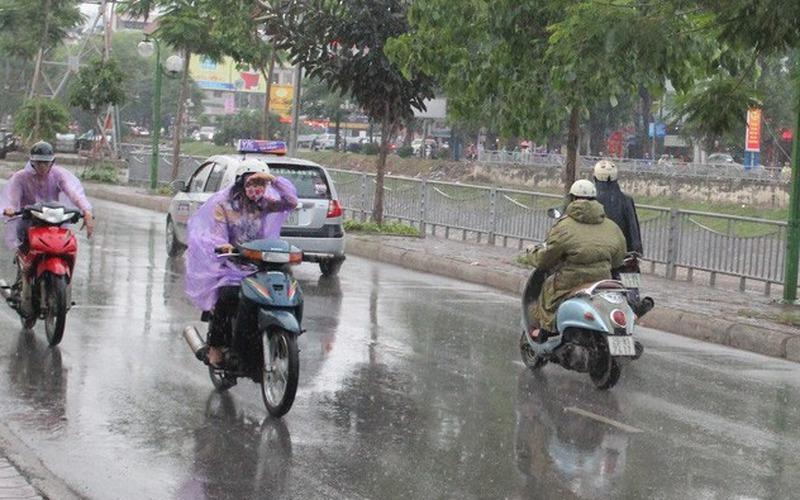 Gió mùa Đông Bắc tràn về, miền Bắc mưa dông