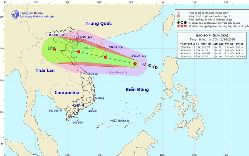 Khẩn: Bão số 7 thẳng tiến các tỉnh Bắc Bộ, Bắc Trung Bộ, giật cấp 12, nguy cơ mưa rất to