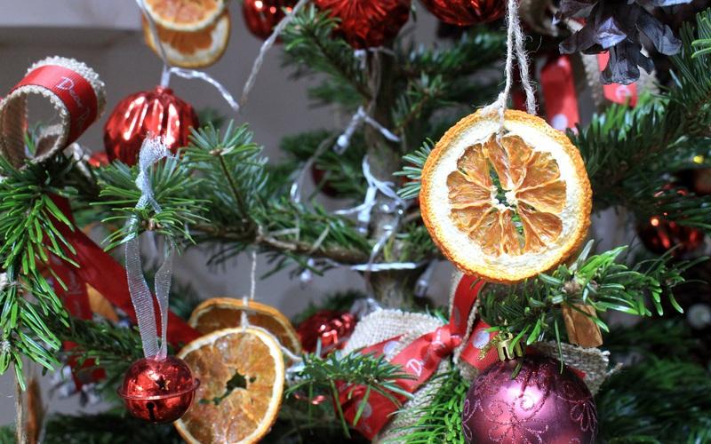 Cận cảnh cây thông thật trang trí Noel giá 'khủng', riêng mấy trái châu đã gần chục triệu