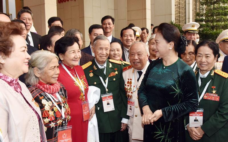 Anh hùng Lao động Phạm Thị Huân cảm ơn lãnh đạo Đảng, Nhà nước, ban, bộ, ngành trung ương, địa phương, nông dân