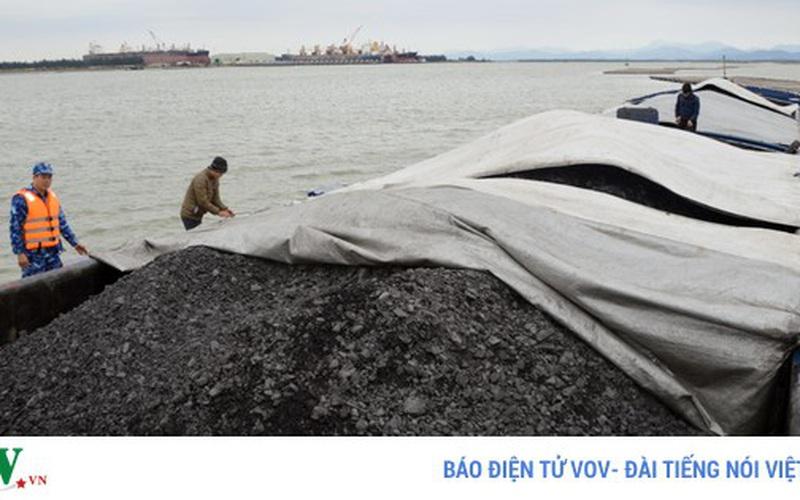 Vùng cảnh sát biển 1 tạm giữ 700m3 than không rõ nguồn gốc