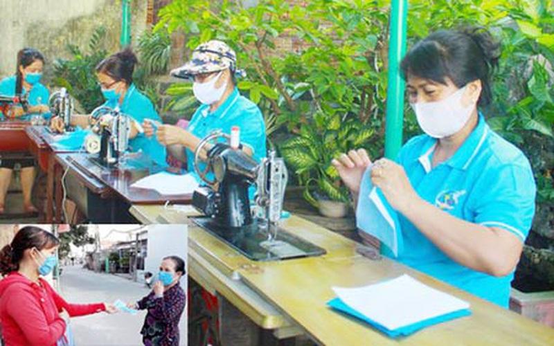 Quảng Ngãi: Cả làng may khẩu trang phát miễn phí cho dân phòng dịch Covid-19