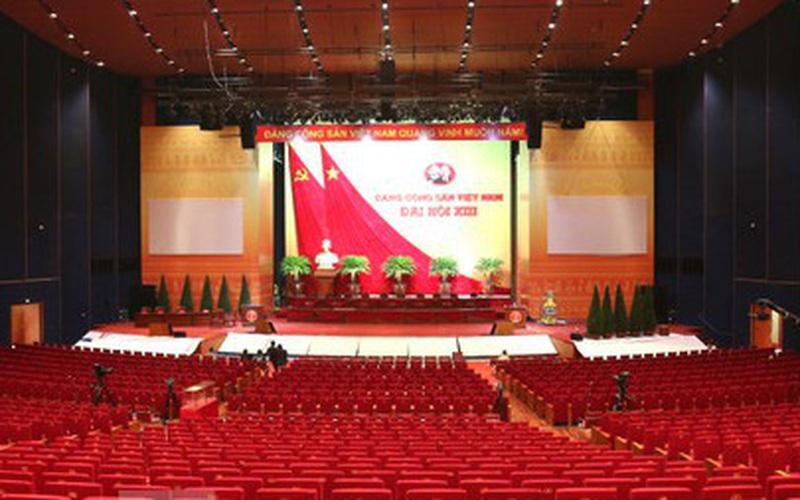 Ảnh: Trung tâm Hội nghị Quốc gia sẵn sàng cho Đại hội Đảng XIII