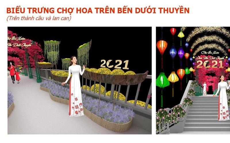 """TP.HCM: Chợ hoa Xuân """"trên bến dưới thuyền"""" được đưa vào chuỗi sự kiện văn hóa lễ hội tiêu biểu"""