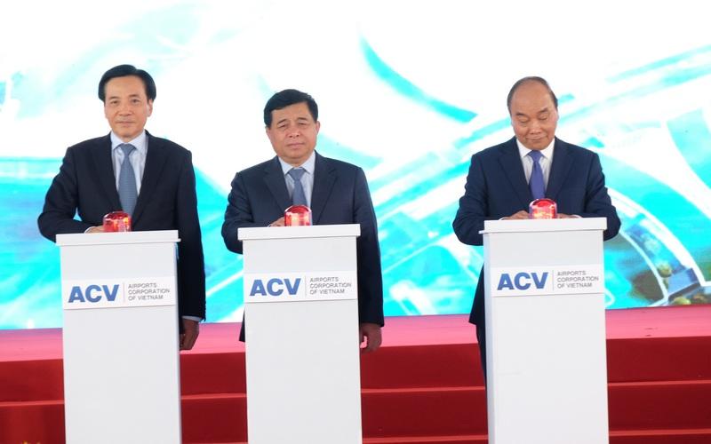 Chùm ảnh: Thủ tướng Nguyễn Xuân Phúc bấm nút khởi công xây dựng sân bay Long Thành