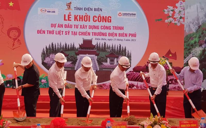 Điện Biên: Khởi công xây dựng Đền thờ liệt sỹ tại chiến trường Điện Biên Phủ