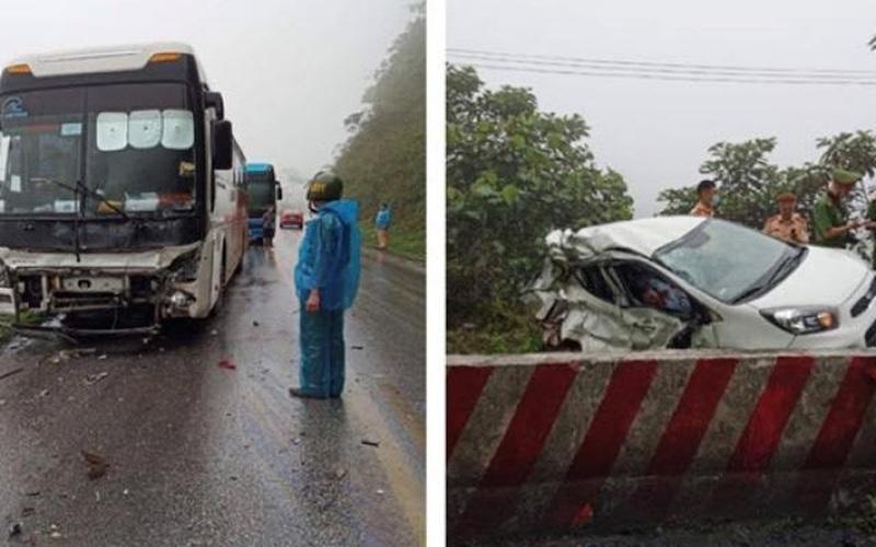 Vụ ô tô con va chạm khủng khiếp với xe khách trên QL6: Hai nạn nhân là quân nhân