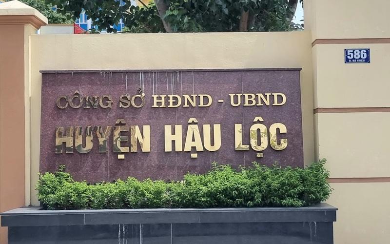 Thanh Hoá: Khởi tố Trưởng phòng Tài nguyên và Môi trường huyện do sai phạm liên quan đất đai