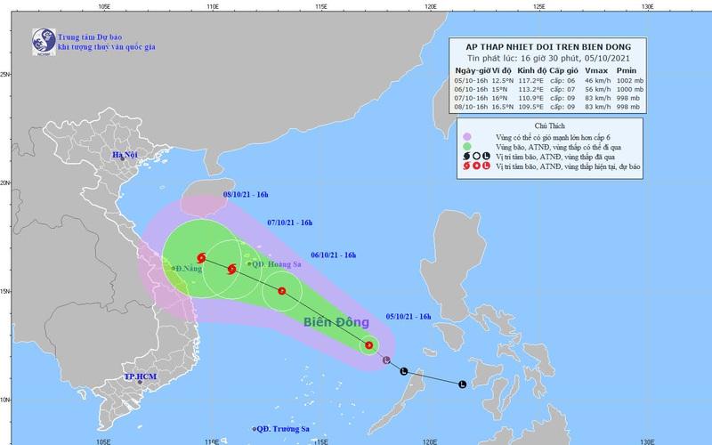 Áp thấp nhiệt đới đã hình thành trên biển Đông, diễn biến khó lường nếu mạnh lên thành bão và kết hợp không khí lạnh