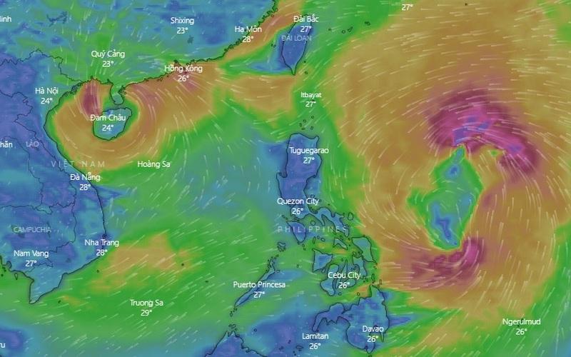 Bão số 7 đã vào vịnh Bắc Bộ, ngày mai sẽ suy yếu thành áp thấp nhiệt đới, miền Bắc trời mưa rét