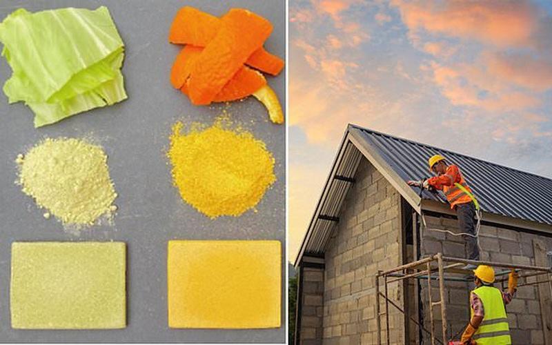 Khó tin biến chất thải thực phẩm thành vật liệu xây dựng