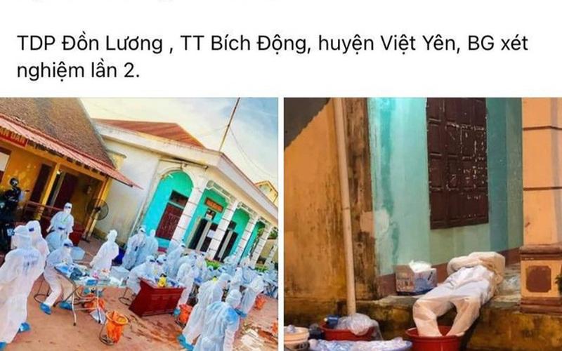 """Thương cảm hình ảnh y bác sĩ """"dội nước đá lên người làm mát"""" tại Bắc Giang"""