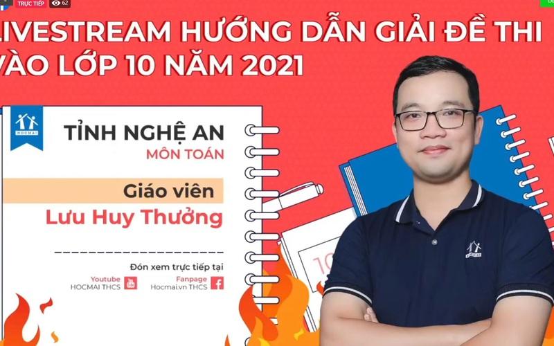 [TRỰC TIẾP] Chữa đề thi vào lớp 10 năm 2021 - tỉnh Nghệ An, môn Toán