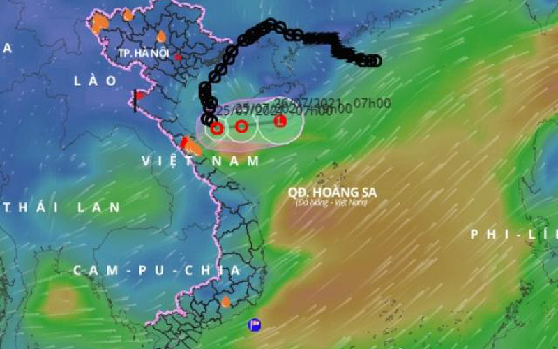 Diễn biến mới của áp thấp nhiệt đới đang gây mưa to ở Bắc Trung Bộ