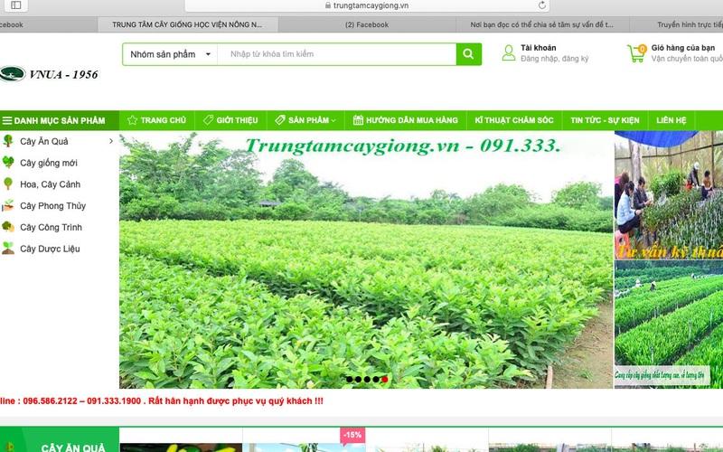 Nhiều website bán cây giống mạo danh Học viện Nông nghiệp Việt Nam