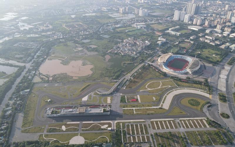 Toàn cảnh đường đua F1, nơi mà Khu Liên hợp Thể thao Quốc gia muốn đòi từ TP Hà Nội