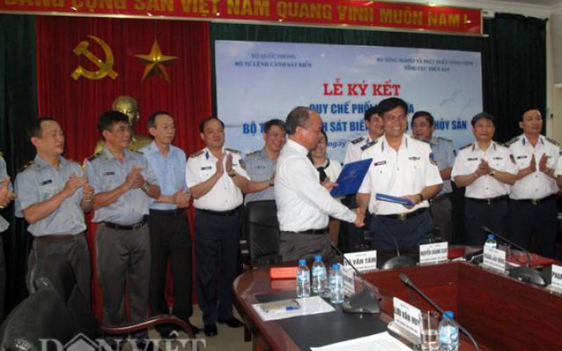 Bộ Tư lệnh cảnh sát biển bắt tay Tổng cục Thủy sản bảo vệ biển đảo