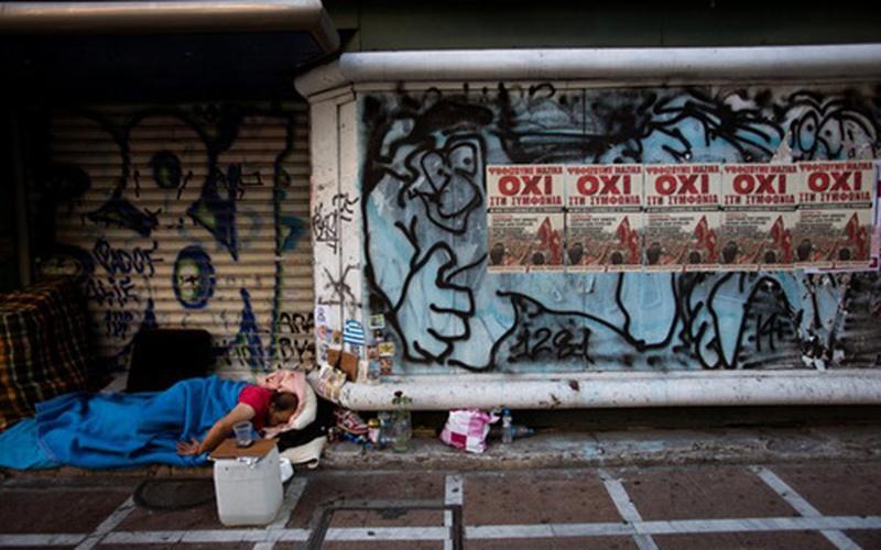 Khủng hoảng nợ đẩy nhiều người Hy Lạp ra ngủ đường