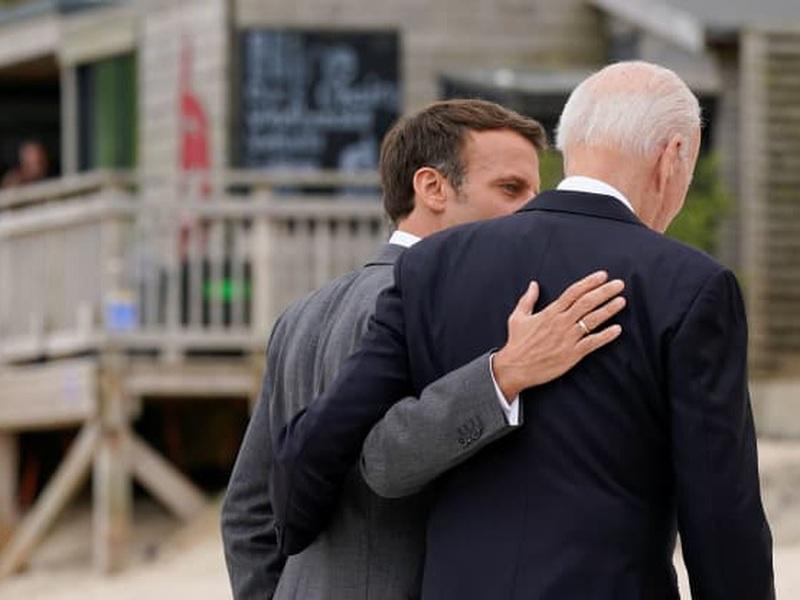 """Tổng thống Pháp: """"Nước Mỹ đã trở lại"""" dưới thời ông Biden"""